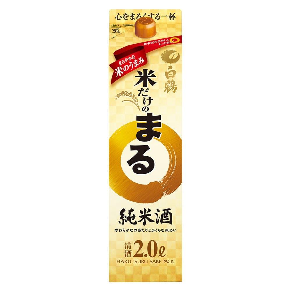 米だけのまる 純米酒 パック 2000ml, , product