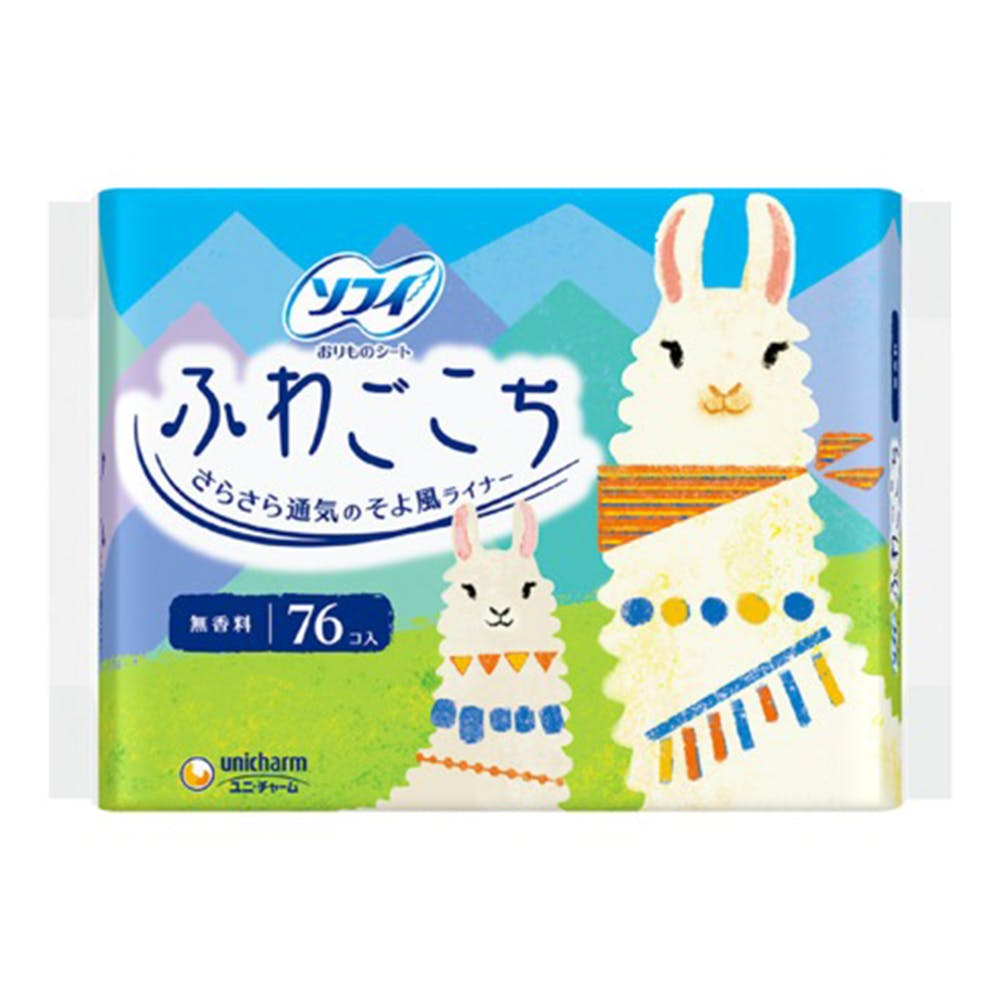 【店舗限定】ユニ・チャーム ソフィ ふわごこち 無香料 38枚×2個パック, , product