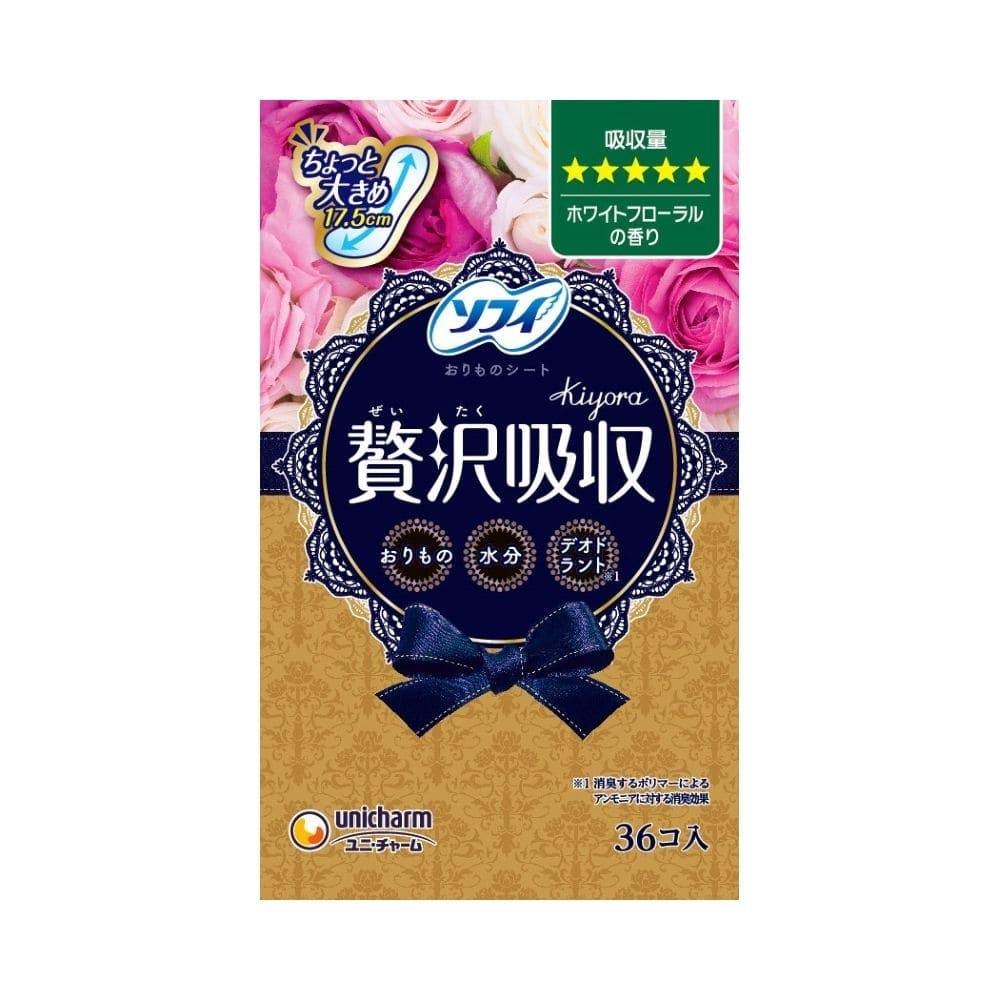 【店舗限定】ユニ・チャーム ソフィ Kiyora 贅沢吸収 ホワイトフローラルの香り 多い用 36枚, , product