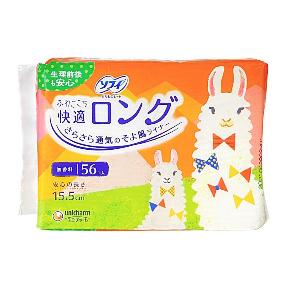 ユニ・チャーム ソフィ ふわごこち 快適ロング 56枚, , product