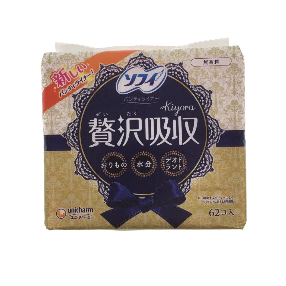 ユニ・チャーム ソフィ Kiyora 贅沢吸収 無香料 62枚, , product