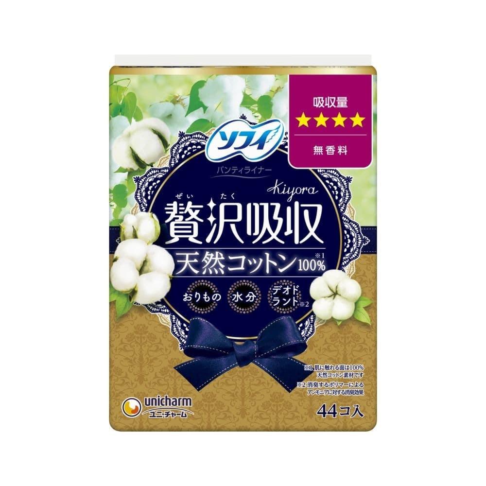 ユニ・チャーム ソフィ Kiyora 贅沢吸収 天然コットン100% 少し多い用 44枚, , product