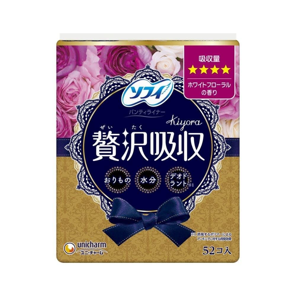 ユニ・チャーム ソフィ Kiyora 贅沢吸収 ホワイトフローラルの香り 少し多い用 52枚, , product