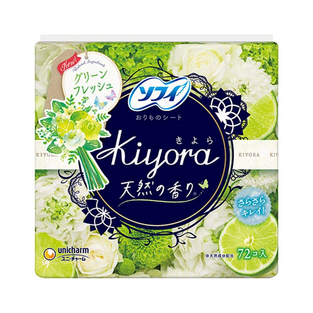 ユニ・チャーム ソフィ Kiyora フレグランス グリーンフレッシュの香り 72枚, , product