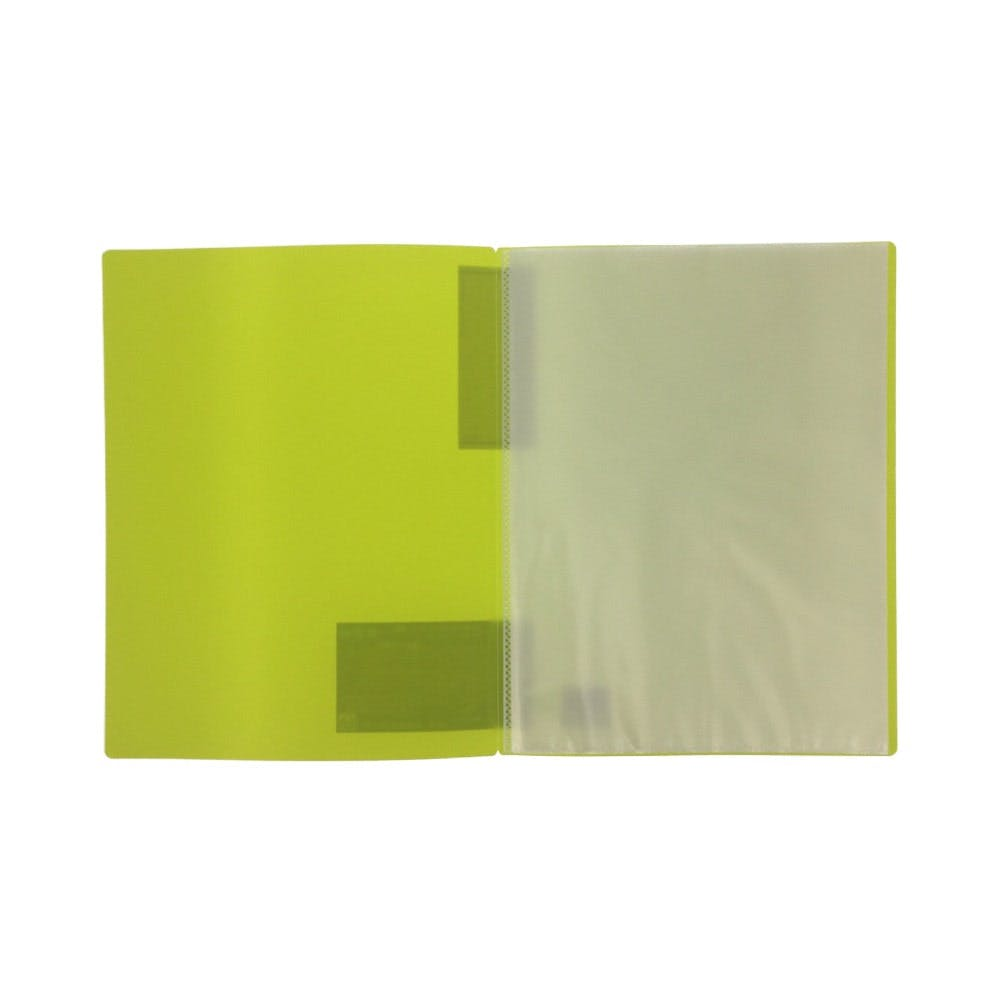 リヒト クリヤーブック A4 10P 黄緑7110, , product