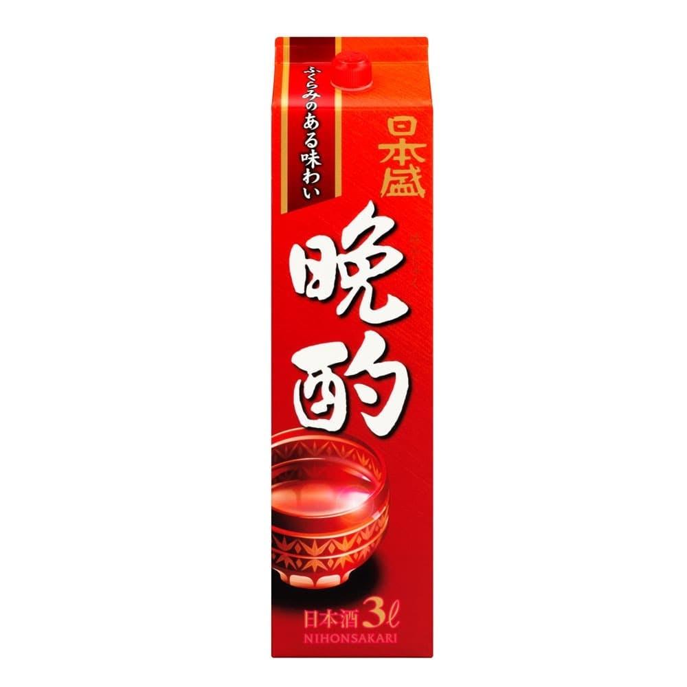 日本盛 晩酌 パック 3000ml【別送品】, , product