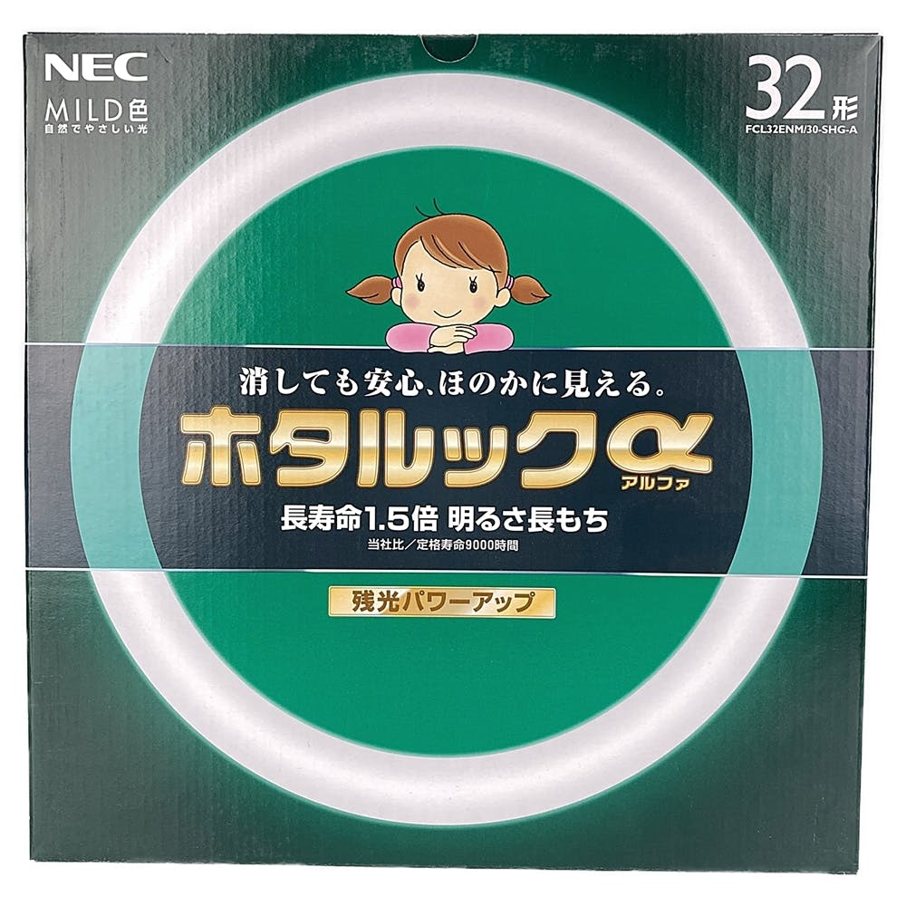 NEC ホタルックα 丸管 32形 MILD色 FCL32ENM/30-SHG-A, , product