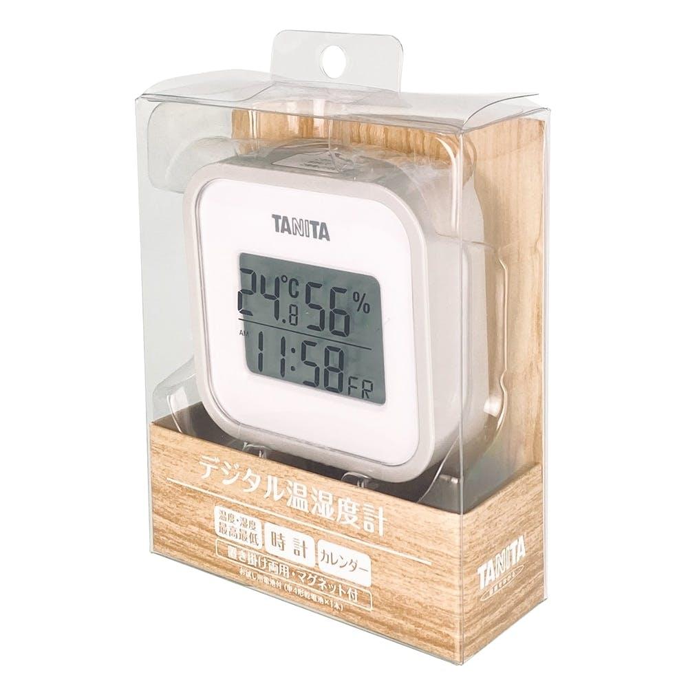 タニタ デジタル温湿度計 TT558 グレー, , product