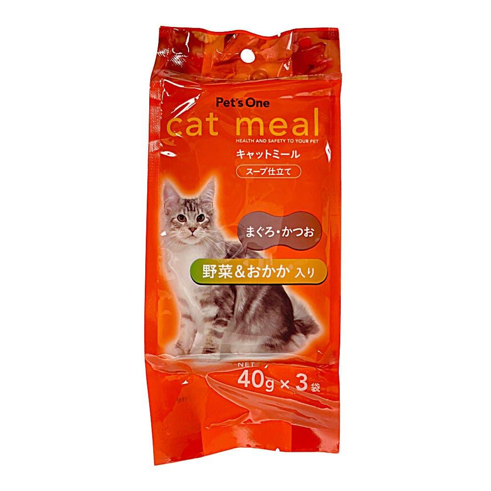 Pet'sOne キャットミール スープ仕立て まぐろ・かつお 野菜&おかか入り 40g 3袋入り, , product