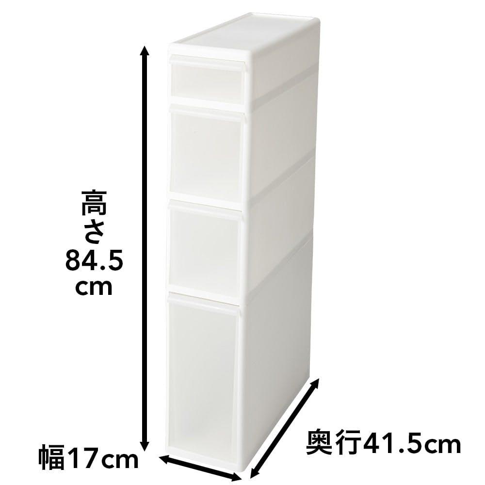 スリムすき間ストッカー4段セレクト ボトル<シート入り> 幅17cm, , product