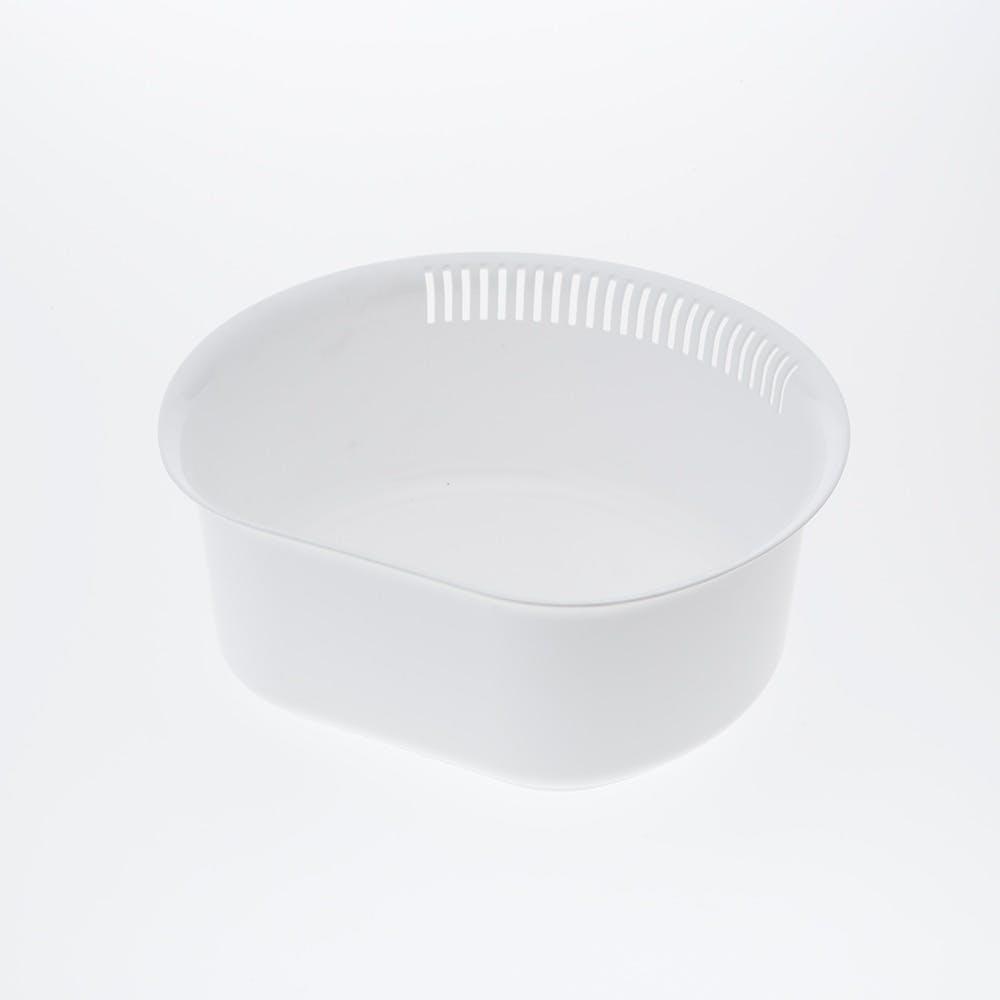 D型洗い桶 ホワイト, , product