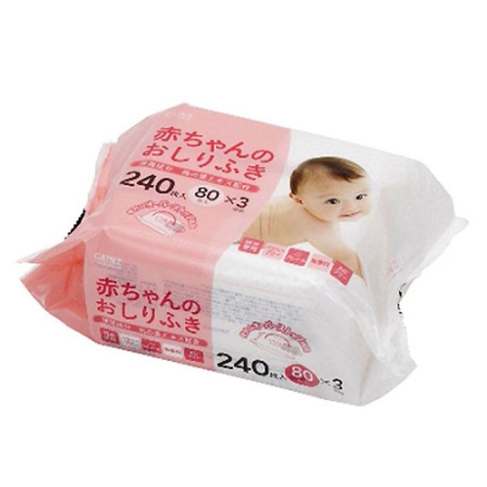 カインズ 赤ちゃんのおしりふき 80枚×3個パック, , product