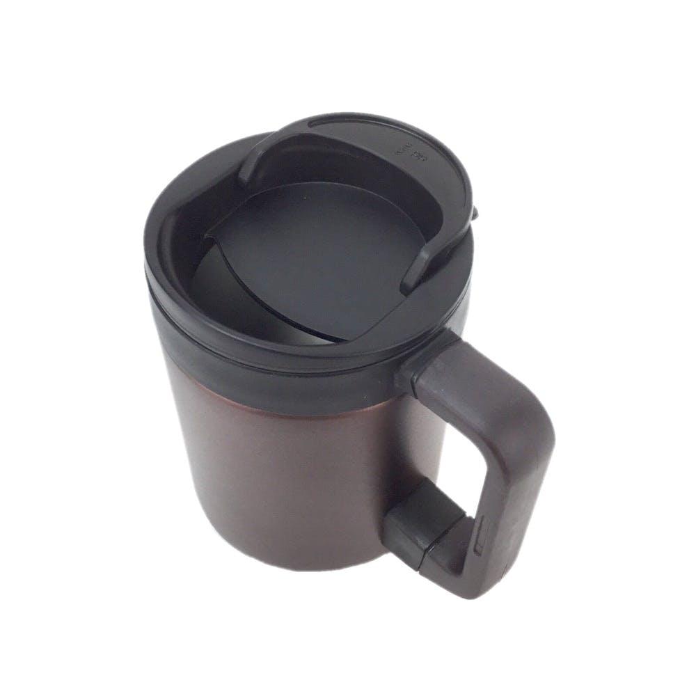 ステンレス製蓋付きマグカップ280ml ブラウン, , product