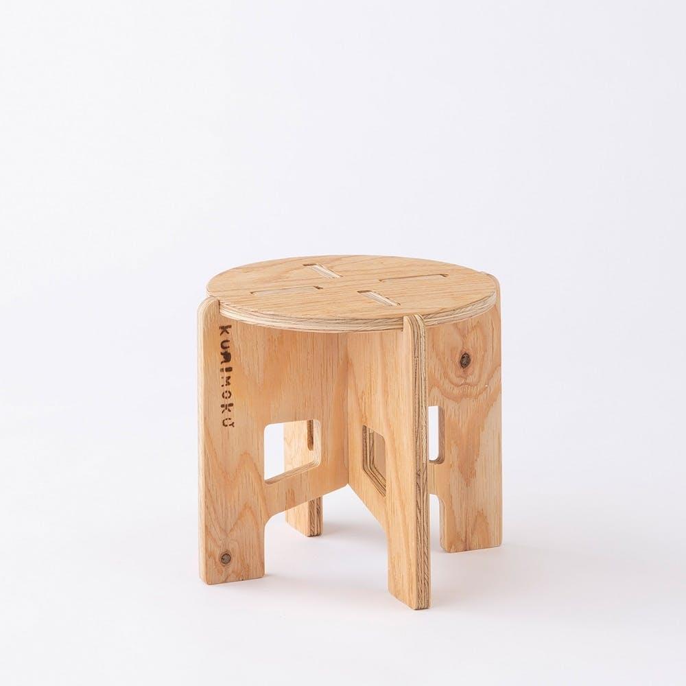 Kumimoku クロスレッグチェア 丸小, , product