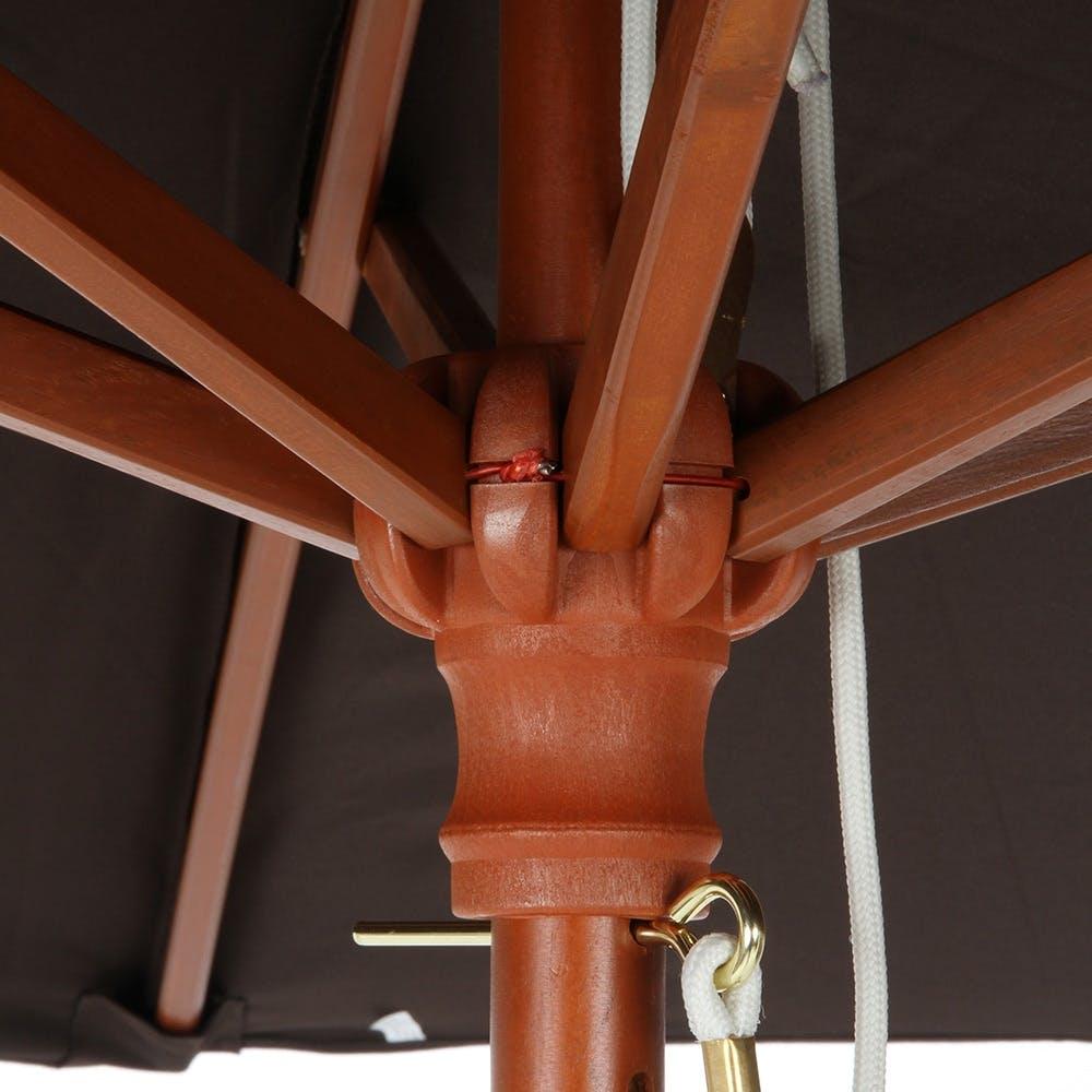 木製パラソル 210cm アイボリー【別送品】, , product