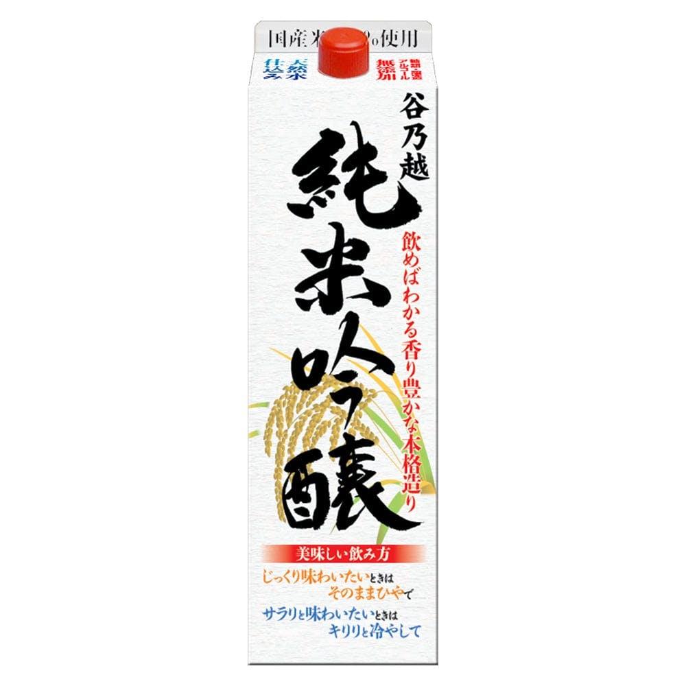 谷乃越 純米吟醸酒 パック 1800ml, , product