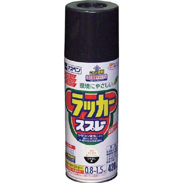 アスペン ラッカースプレー 420ml ツヤ消し黒, , product
