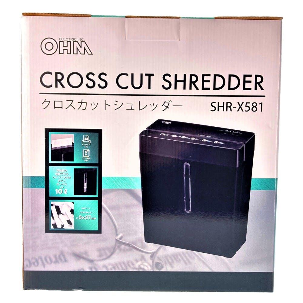 オーム電機 OHM クロスカットシュレッダー SHR-X581, , product