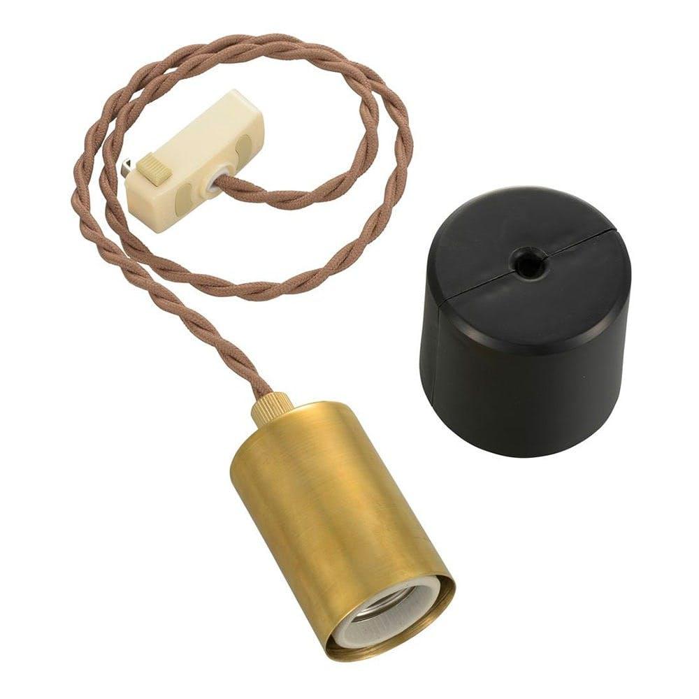 オーム電機 ペンダントソケットライト 真鍮TypeA HS-LPS03 06-3903, , product