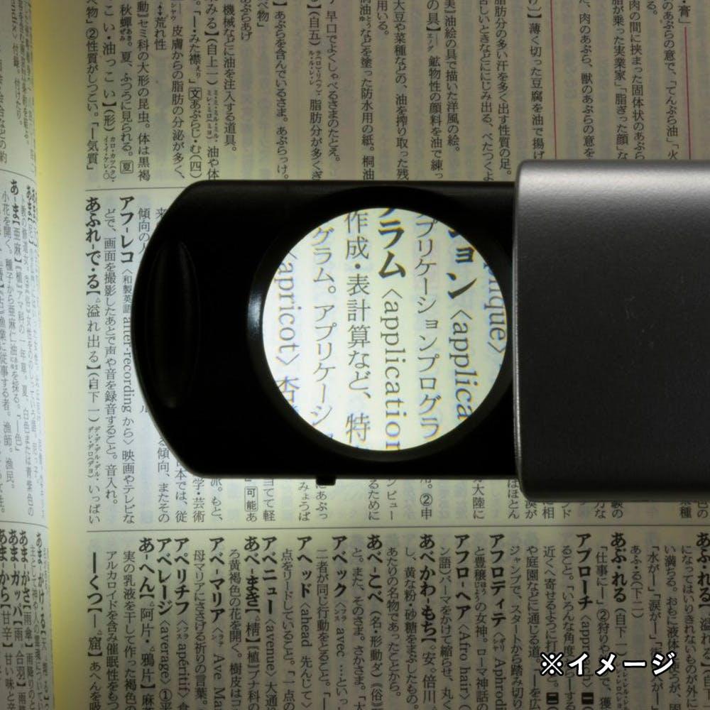【店舗限定】オーム電機 L-ZOOM ポケットルーペ2 シルバー LH-M012H6-S 07-8139, , product