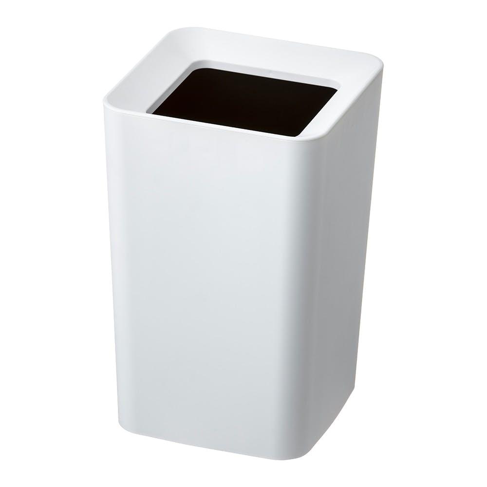 袋を丸ごと隠せるくず入れ 角 ホワイト, , product