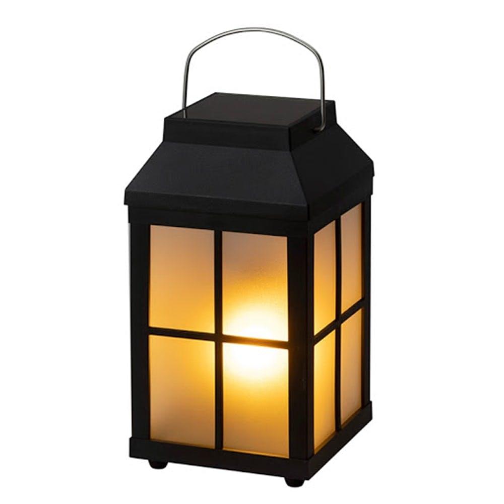 ゆらぎソーラーフレイムランタンライト ブラック【別送品】, , product
