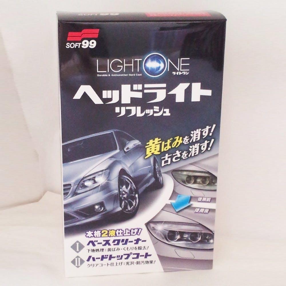 ソフト99  LIGHT ONE ヘッドライトリフレッシュ クリーナー80ml/トップコート8ml  E-56, , product