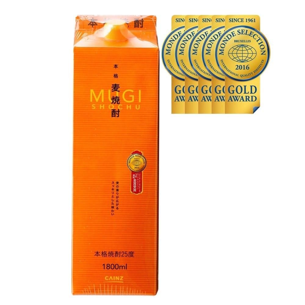 カインズ 本格麦焼酎 25度 1800ml, , product