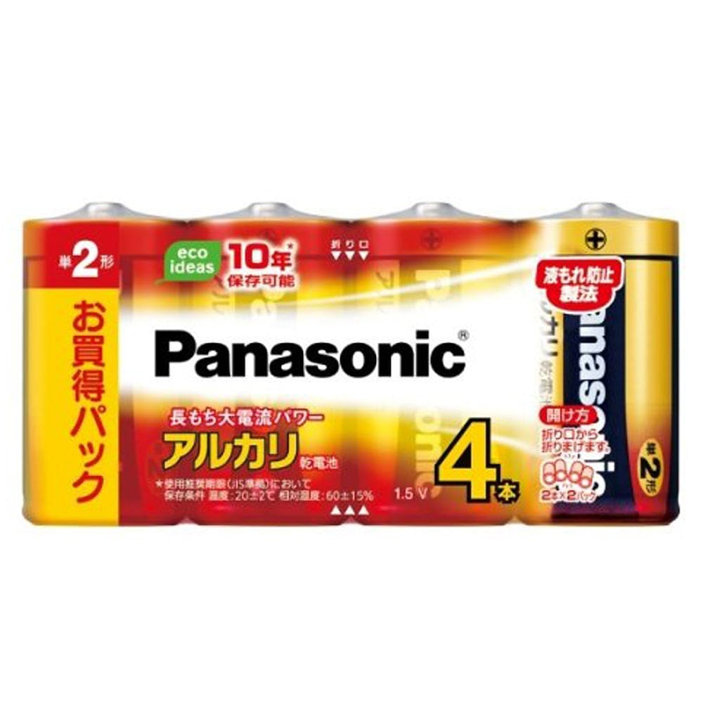 パナソニック アルカリ乾電池 単2形4本パック LR14XJ/4SW, , product