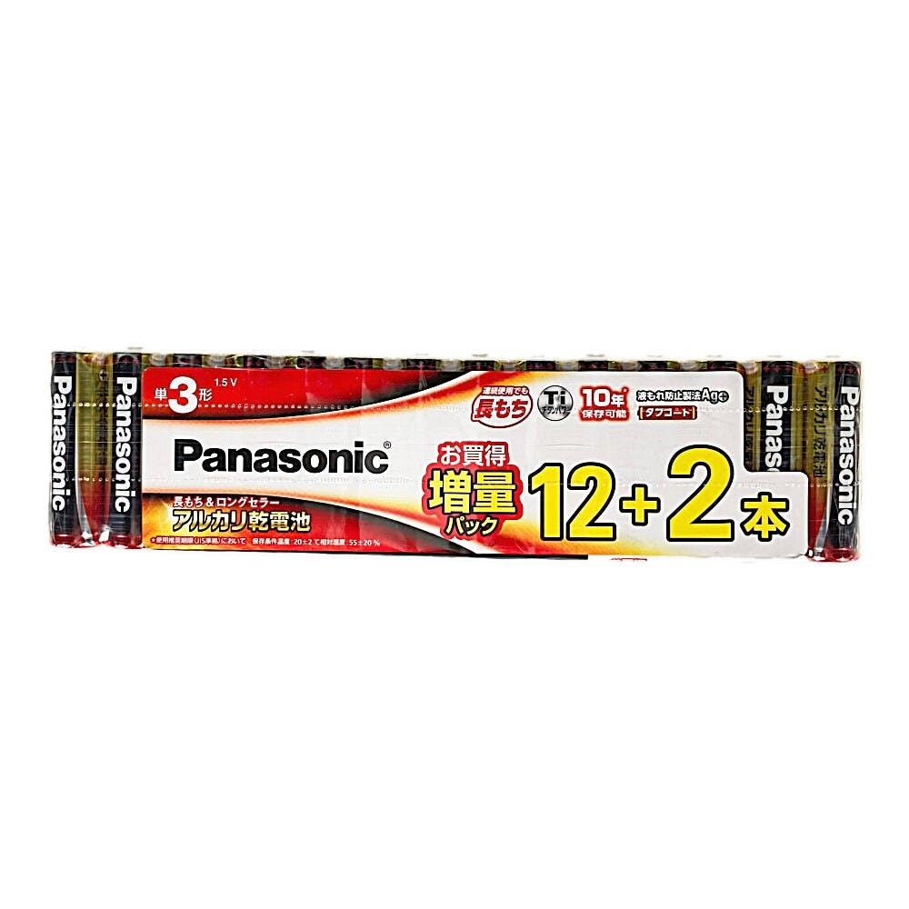 パナソニック アルカリ乾電池 単3形 12本パック+2本パック(増量パック) LR6XJSP/14S, , product