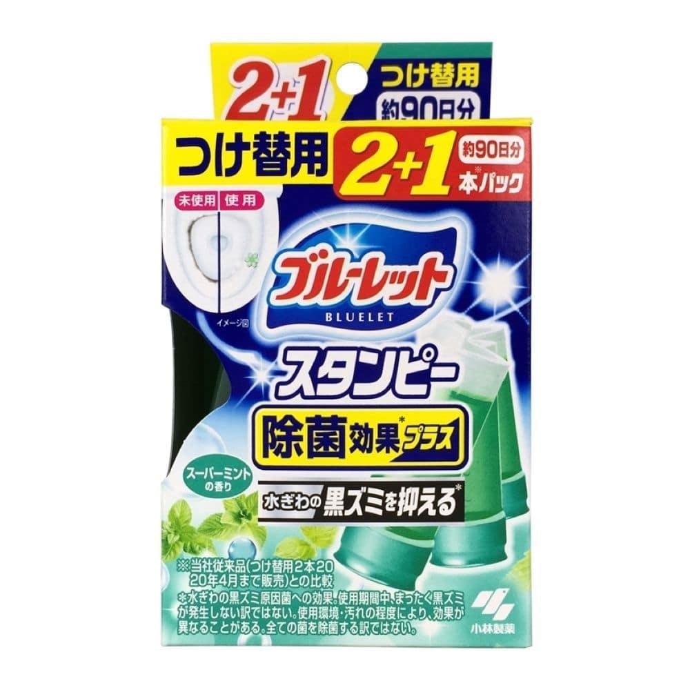 小林製薬 ブルーレットスタンピー 除菌効果プラス スーパーミントの香り つけ替用 28g×3本, , product