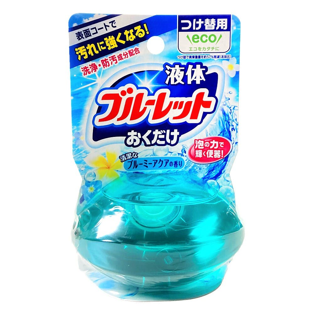 小林製薬 液体ブルーレットおくだけ 清潔なブルーミーアクアの香り つけ替用 70ml, , product
