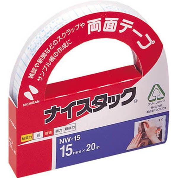 ニチバン 両面テープ ナイスタック 15mm×20m NW-15, , product